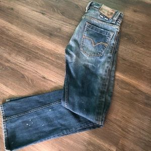 Diesel Shazor Distressed Jeans.